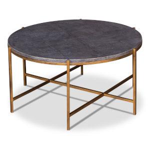 Black Grey Shagreen Coffee Table