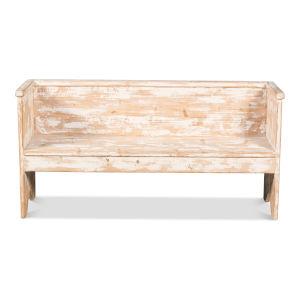 White 16-Inch Beach House Bench
