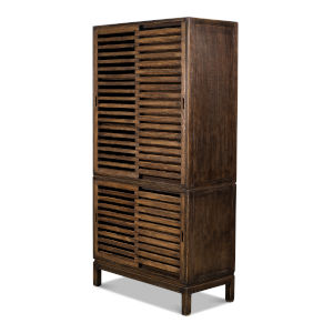 Brown Groovy Doors Bookcase