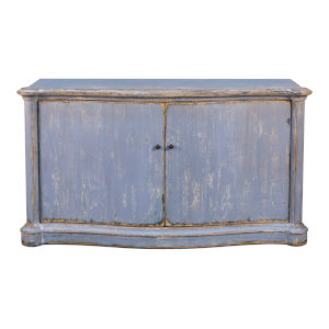 Blue 21-Inch Columns Bowfront Sideboard