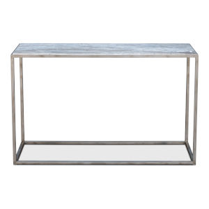 Silver 16-Inch Minimal Console Table