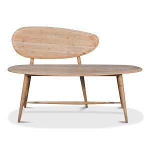 Tan 15-Inch Pebble Bench