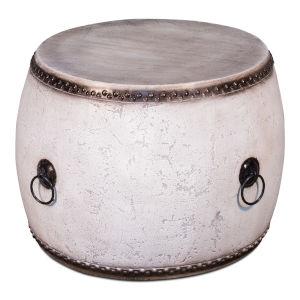 White  Drum Table