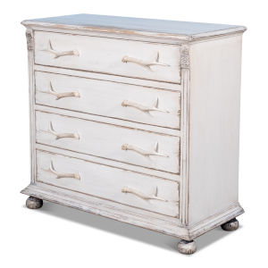 White Bucks Commode In White