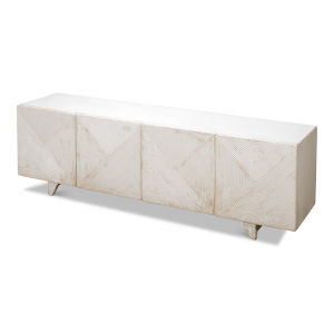 White Low Wall Console For TV
