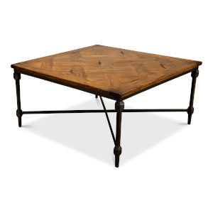 Brown Hunter Parquet Cocktail Table