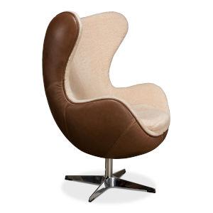 Brown Jacobean Mid 20th Century Egg Chair