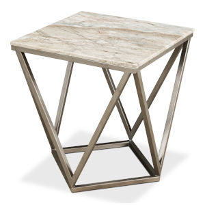 Black Trapezoid Side Table