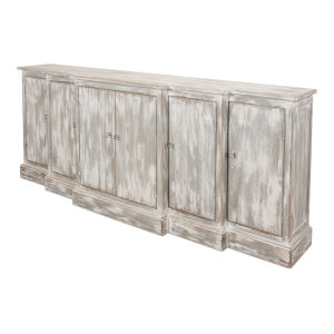 Gray Waterfall Front Credenza