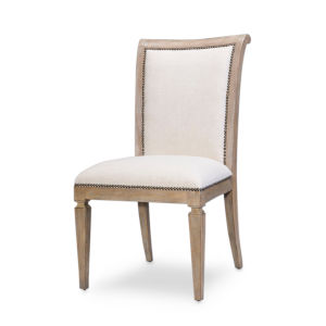 Gray Scroll Back Dining Side Chair