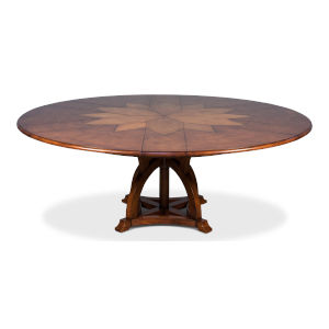 Brown 64-Inch Austin Jupe Dining Table