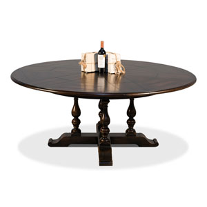 Black 84-Inch Walnut Jupe Dining Table
