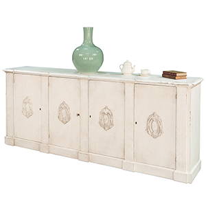 White Crested Wall Cabinet
