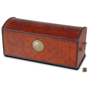 Burnt Orange Barons Leather Box
