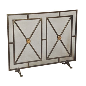 Iron Rainbow Paneled Firescreen