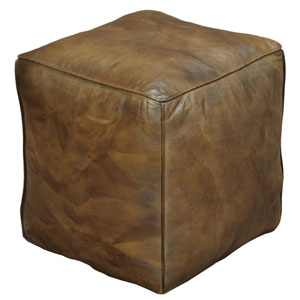 Leather Cube Footrest
