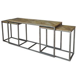 Driftwood Nesting Console Tables
