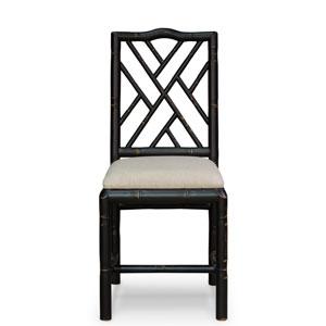 Black Brighton Bamboo Side Chair