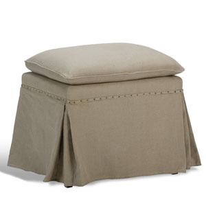 Natural Oak Draped Ottoman