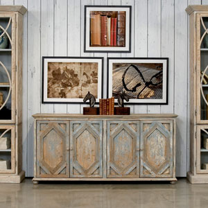 Pine Matte Sideboard Table