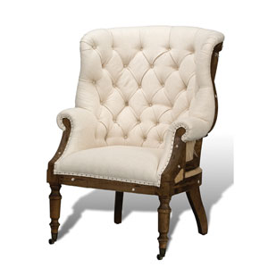 Wood Irish Chair with Linen Fabric