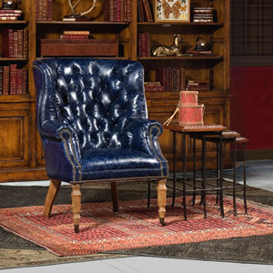 Welsh Blue Leather Chair