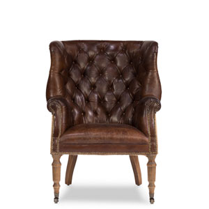 Welsh Leather and Jute Chair