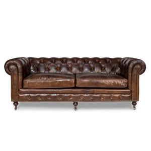Castered Chesterfield Sofa, 3 Seater