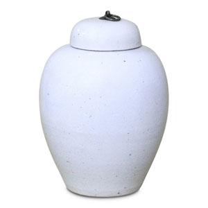 Lidded White Porcelain Urn
