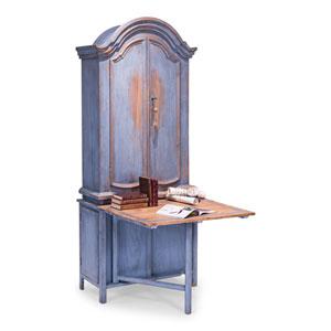 Blue Dress Writing Cabinet