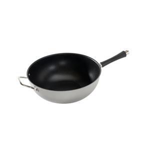 Silver 12-Inch Big Bowl Wok