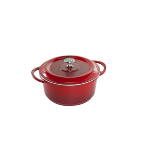 Red 5 Quart Dutch Oven Pan with Cover
