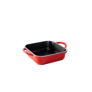 Traditions Castware Cranberry Square Baker 9x9