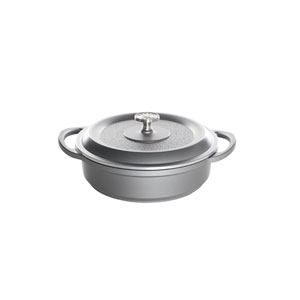 Traditions Castware 10-Inch Three Quart Slate Braiser Pan with Lid