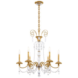 Helenia Heirloom Gold Six-Light Chandelier with Clear Heritage Crystal