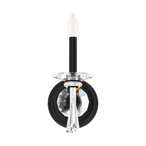 Savannah Black One-Light Wall Sconce with Clear Heritage Crystal