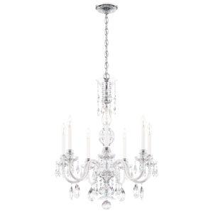 Hamilton Nouveau Silver Seven-Light Chandelier