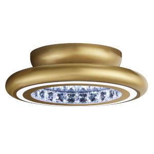 Infinite Aura Glimmer Gold 15-Inch LED Flush Mount with Swarovski Crystal