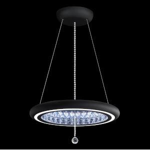 Infinite Aura Black 23-Inch LED Pendant with Swarovski Crystal Pendalogue