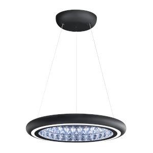 Infinite Aura Black 23-Inch LED Pendant with Swarovski Crystal