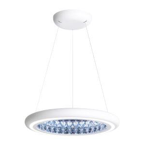 Infinite Aura White 23-Inch LED Pendant with Swarovski Crystal