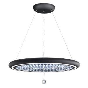 Infinite Aura Black 30-Inch LED Pendant with Swarovski Crystal Pendalogue