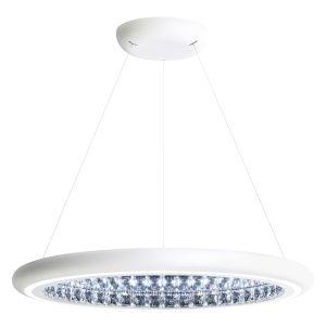 Infinite Aura White 30-Inch LED Pendant with Swarovski Crystal