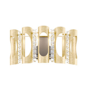 Twilight Heirloom Gold Two-Light Wall Sconce with Clear Heritage Crystal