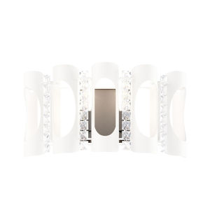 Twilight White Two-Light Wall Sconce with Clear Heritage Crystal