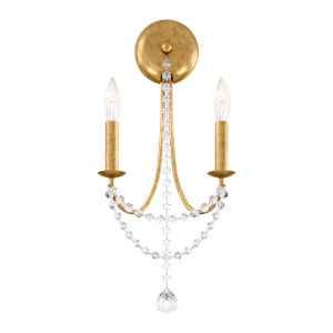 Verdana Heirloom Gold Two-Light Wall Sconce