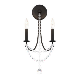 Verdana Black Two-Light Wall Sconce
