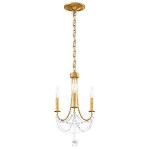 Verdana Heirloom Gold Three-Light Mini Chandelier