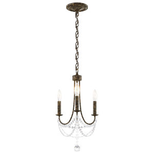 Verdana Heirloom Bronze Three-Light Mini Chandelier