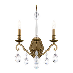 Renaissance Nouveau Heirloom Silver Two-Light Wall Sconce